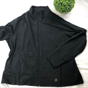 Adidas zip up track jacket with thumb holes